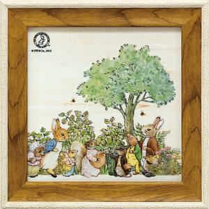 絵画 インテリア アートポスター 壁掛け (額縁 アートフレーム付き) ピーター ラビット ミニゲル アートフレーム「ピーターとおともだち」|touo