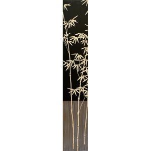 インテリア アート 壁掛け ウッド スカルプチャー アート「バンブー2(BK+NP)」|touo