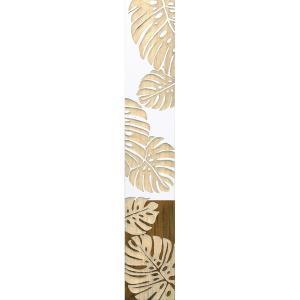 インテリア アート 壁掛け ウッド スカルプチャー アート「ダンシング モンステラ(WH+NP)」|touo