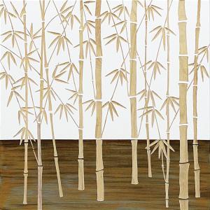 インテリア アート 壁掛け ウッド スカルプチャー アート「フォレスト バンブー(WH+NP)」|touo