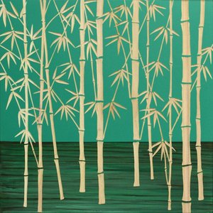インテリア アート 壁掛け ウッド スカルプチャー アート「フォレスト バンブー(GR+NP)」|touo