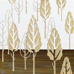 インテリア アート 壁掛け ウッド スカルプチャー アート「フォレスト ツリー(WH+NP)」|touo