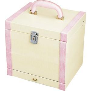 インテリア 小物入れ スウィート コスメ ボックス ホワイト&ピンク|touo