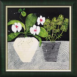絵画 インテリア アートポスター スーザン ブラウン「オーキッド モザイク」|touo