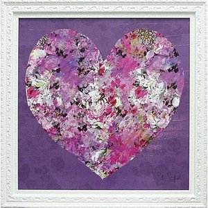 絵画 インテリア アートポスター 壁掛け (額縁 アートフレーム付き) サリー スカファーディ作 「ハート」|touo