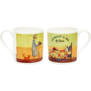 サム トフト アートマグカップ「ドリスとベッドで朝食」|touo