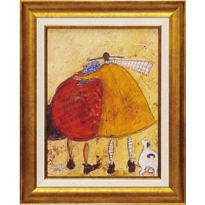 絵画 インテリア アートポスター 壁掛け (額縁 アートフレーム付き) サム トフト「ハグしよう」|touo