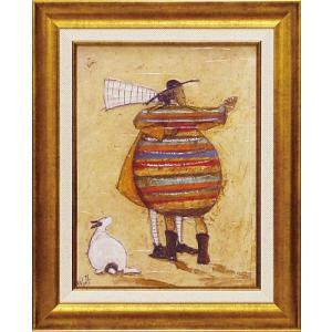 絵画 インテリア アートポスター 壁掛け (額縁 アートフレーム付き) サム トフト「ほほ寄せて踊ろう」|touo