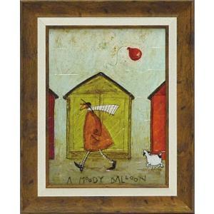 絵画 インテリア アートポスター 壁掛け (額縁 アートフレーム付き) サム トフト「ムーン バルーン」|touo