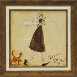 絵画 インテリア アートポスター 壁掛け (額縁 アートフレーム付き) サム トフト「さまよい人の休日」|touo
