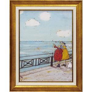 絵画 インテリア アートポスター 壁掛け (額縁 アートフレーム付き) サム トフト「彼女の好きな雲」|touo