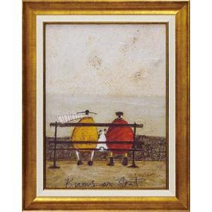 絵画 インテリア アートポスター 壁掛け (額縁 アートフレーム付き) サム トフト「ひと休み」|touo