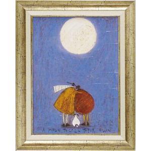 絵画 インテリア アートポスター 壁掛け (額縁 アートフレーム付き) サム トフト「月夜のふたり」|touo