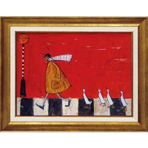 絵画 インテリア アートポスター 壁掛け (額縁 アートフレーム付き) サム トフト「アヒルと横断」|touo