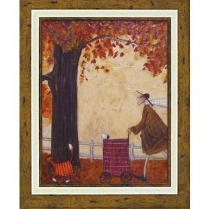 絵画 インテリア アートポスター 壁掛け (額縁 アートフレーム付き) サム トフト「パンプキンに続け」|touo
