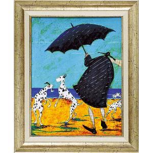 絵画 インテリア アートポスター 壁掛け (額縁 アートフレーム付き)付 サム トフト「ジャックの海岸で」|touo