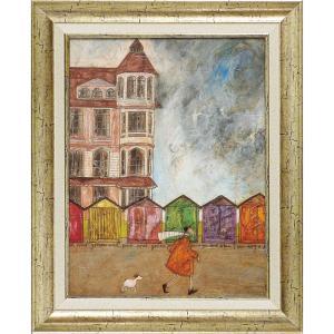 絵画 インテリア アートポスター サム トフト「海の家で」|touo