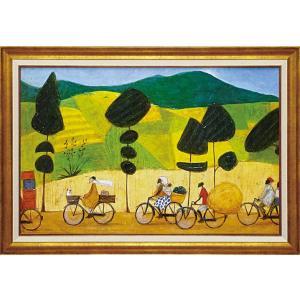 絵画 インテリア アートポスター 壁掛け (額縁 アートフレーム付き) サム トフト「ルショトへの道は大混雑」|touo