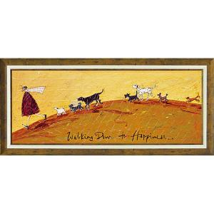 絵画 インテリア アートポスター 壁掛け (額縁 アートフレーム付き)付 サム トフト「幸せへ向かって」|touo