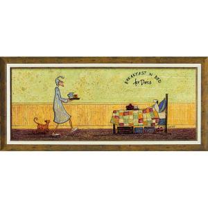 絵画 インテリア アートポスター サム トフト「ドリスとベッドで朝食」|touo