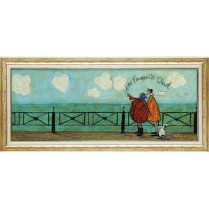 絵画 インテリア アートポスター サム トフト「彼女の好きなハート雲」|touo