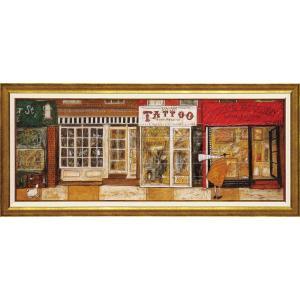 絵画 インテリア アートポスター サム トフト「あなたの住む街角で」|touo