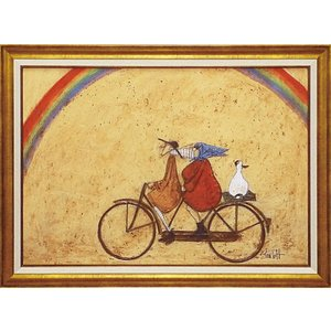 絵画 インテリア アートポスター 壁掛け (額縁 アートフレーム付き) サム トフト「虹に向かって」|touo