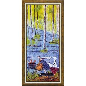 絵画 インテリア アートポスター 壁掛け (額縁 アートフレーム付き)付 サム トフト「スプリング」|touo