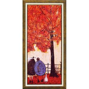 絵画 インテリア アートポスター 壁掛け (額縁 アートフレーム付き)付 サム トフト「オータム」|touo