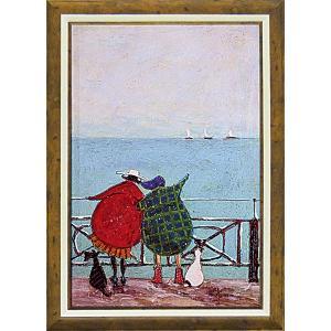 絵画 インテリア アートポスター 壁掛け (額縁 アートフレーム付き)付 サム トフト「舟を眺めるひととき」|touo