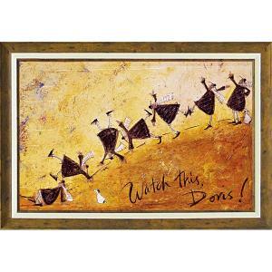 絵画 インテリア アートポスター 壁掛け (額縁 アートフレーム付き)付 サム トフト「見て!ドリス!」|touo