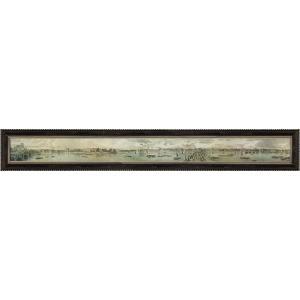 絵画 インテリア アートポスター 壁掛け (額縁 アートフレーム付き) トーマス マン ベイネス作 「ヴュー オブ ザ ノース バンク オブ ザ テムズ1」|touo