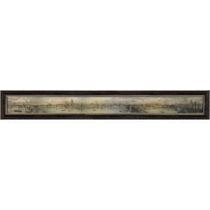 絵画 インテリア アートポスター 壁掛け (額縁 アートフレーム付き) トーマス マン ベイネス作 「ヴュー オブ ザ ノース バンク オブ ザ テムズ2」|touo
