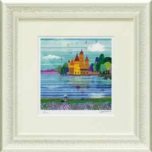 絵画 インテリア アートポスター はりたつお「城と湖」|touo