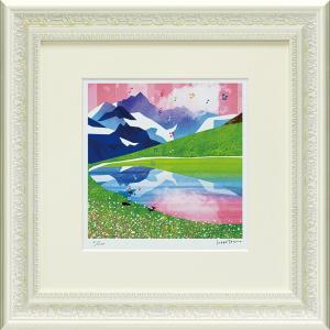 絵画 インテリア アートポスター はりたつお「スイスアルプスのユングフラウとアレッチ」|touo