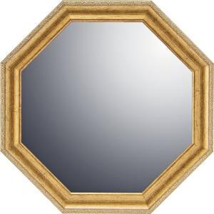 インテリア 開運鏡 壁掛け ヴィンテージ八角ミラー「ゴールド(Mサイズ)」|touo