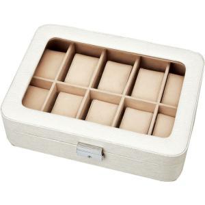 インテリア 小物入れ ウォッチ コレクション ボックス 10ウォッチ(ホワイト)|touo
