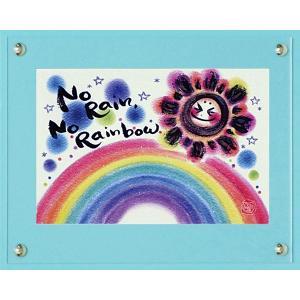 絵画 インテリア アートポスター 壁掛け (額縁 アートフレーム付き)付 わだの めぐみ「No Rain, No Rainbow」|touo