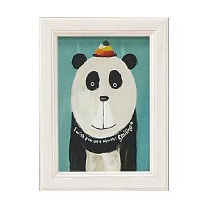 絵画 インテリア アートポスター 壁掛け (額縁 アートフレーム付き) 武内 祐人「パンダ」|touo
