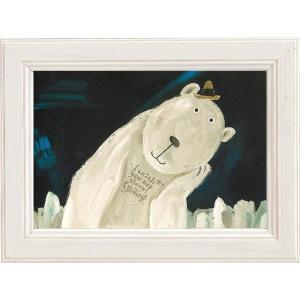 絵画 インテリア アートポスター 壁掛け (額縁 アートフレーム付き) 武内 祐人「シロクマ」|touo