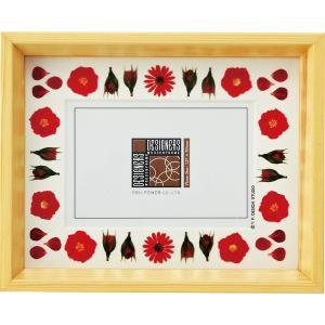 デザイナーズ 木製フレームフォトフレーム「レッド アレンジ (ナチュラル) 1ウィンドー」|touo