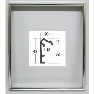 油絵額縁 油彩額縁 アートフレーム 仮縁 アルミ製 F3 「仮縁DX」 ステン|touo
