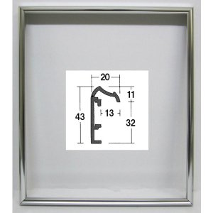 油絵額縁 油彩額縁 アートフレーム 仮縁 アルミ製 P6 「仮縁DX」 ステン|touo