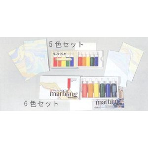 彩液マーブリング.5色セット.5ml|tourakubou