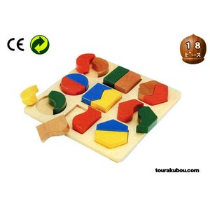 木の知育玩具『形あわせパズルA』|tourakubou