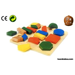 木の知育玩具『形あわせパズルB』|tourakubou