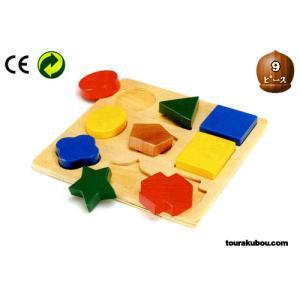 木の知育玩具『形あわせパズルC』|tourakubou