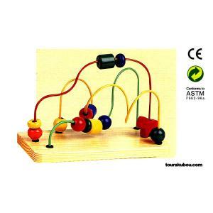 木の知育玩具『カラールーピングB』|tourakubou