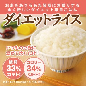 糖質制限 ダイエットライス 75g[常温]|toushitsuseigen-com