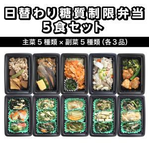 日替わり糖質制限弁当5食セット[冷凍] toushitsuseigen-com